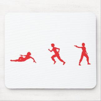 Run, Slide, Shoot Mouse Pad