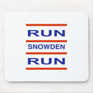 Run Snowden Run Mouse Pad