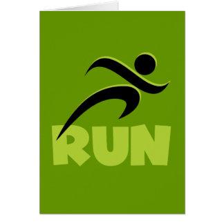 RUN Spring Green Card