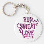 Run Sweat Love Key Chains