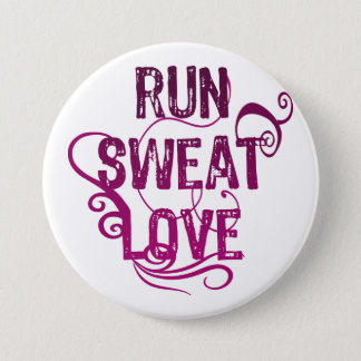 Run Sweat Love Pinback Button