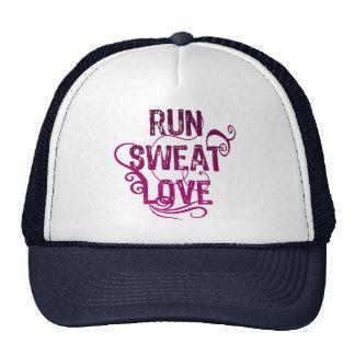 Run Sweat Love Trucker Hat