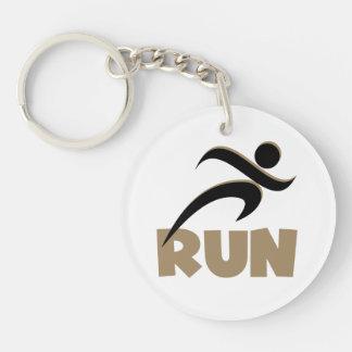 RUN Tan Keychain