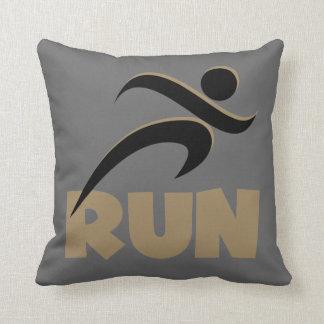 RUN Tan Throw Pillows