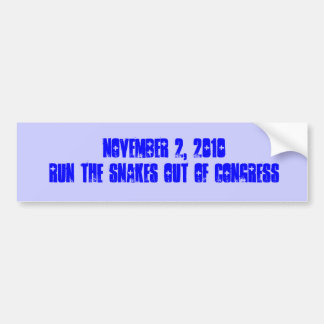 Run the snakes out bumper sticker