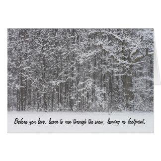 Run Through the Snow Card