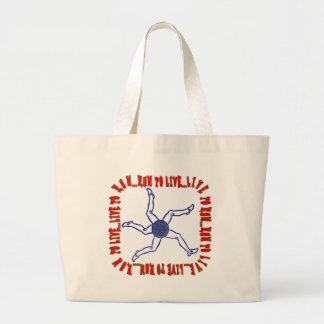 RUN TO LIVE, LIVE TO RUN, RUNNERS MOTTO LARGE TOTE BAG