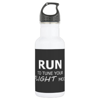 Run To Tune Your Flight Mode Water Bottle