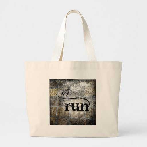 Run w/Shoe Grunge by Vetro Jewelry & Designs Tote Bag
