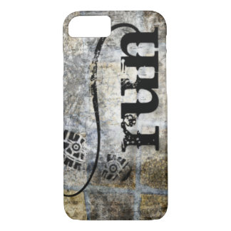 Run w/Shoe Grunge by Vetro Jewelry & Designs iPhone 8/7 Case