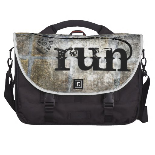 Run w/Shoe Grunge by Vetro Jewelry & Designs Commuter Bag