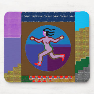 RUN Walk GYM Exercise Charity Causes GREETING GIFT Mouse Pad