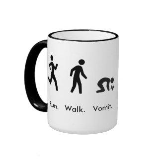 Run. Walk. Vomit Ringer Coffee Mug