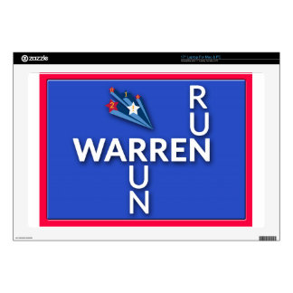"""Run, Warren, Run 17"""" Laptop Skins"""