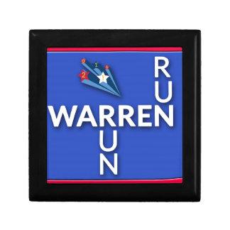 Run, Warren, Run Keepsake Box