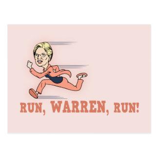 Run, Warren, Run! Postcard