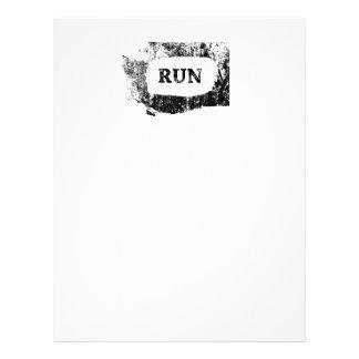 Run Washington Customized Letterhead
