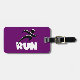 RUN White Luggage Tag
