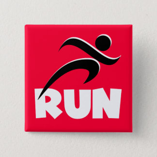 RUN White Pinback Button