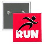 RUN White Pinback Button