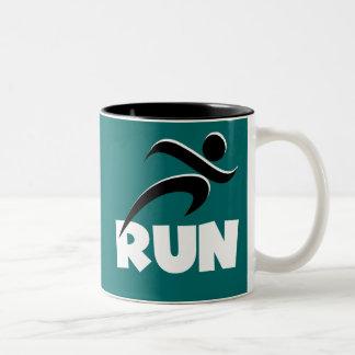 RUN White Two-Tone Coffee Mug