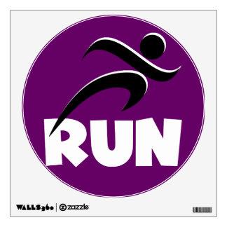 RUN White Wall Sticker
