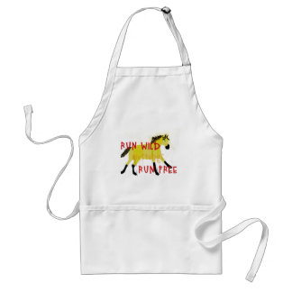 RUN WILD MUSTANGS- Whimsical Horse Collection Adult Apron
