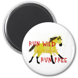 RUN WILD MUSTANGS- Whimsical Horse Collection Fridge Magnets