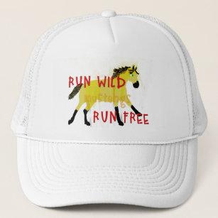 2551ecd7b9d RUN WILD MUSTANGS- Whimsical Horse Collection Trucker Hat