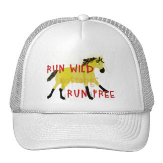 RUN WILD MUSTANGS- Whimsical Horse Collection Trucker Hat