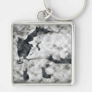 Run Wild, Run Free gifts Silver-Colored Square Keychain