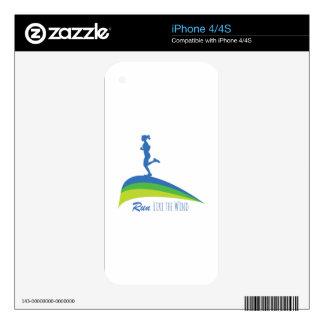 Run Wind iPhone 4S Skin