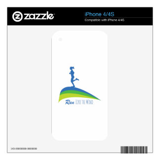 Run Wind Decals For iPhone 4