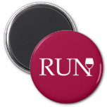 Run wine glass 2 inch round magnet