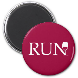 Run wine glass magnet