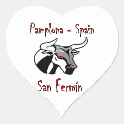 Run with bulls heart sticker