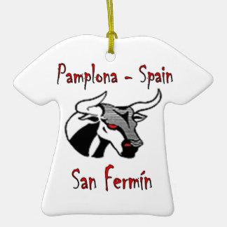 Run with bulls christmas ornament