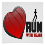 RUN WITH HEART POSTER