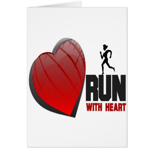 RUN WITH HEART PRODUCTS CARD