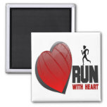 RUN WITH HEART PRODUCTS REFRIGERATOR MAGNET