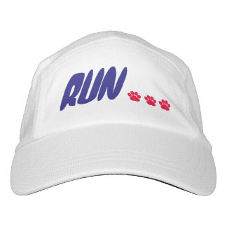 RUN! with pawprints (agility) Headsweats Hat