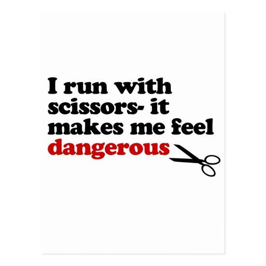 Run with Scissors Postcard