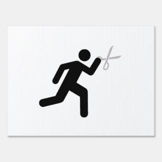 Run With Scissors Sign
