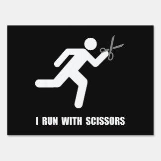 Run With Scissors Yard Signs