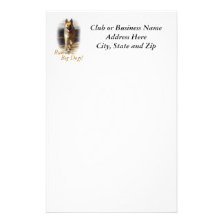 Run with the Big Dogs German Shepherd Stationary Stationery