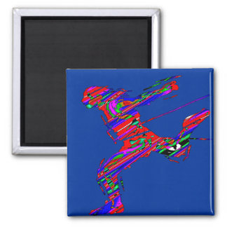 RUN WITH THE WIND 2 INCH SQUARE MAGNET