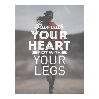 Run With Your Heart Letterhead