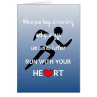 Run with your heart motivation card