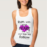 Run With Your Heart Racerback Tank
