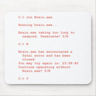 Run Without Brain exe Geek Mouse Mat